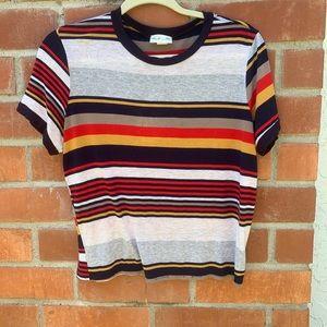 Juniors striped t-shirt